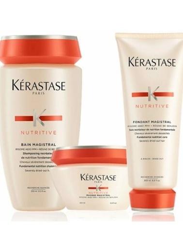 Kerastase Kerastase Nutritive Aşırı Kuru Saçlar Termo Etkili Şampuan 250 ml + Maske 200 ml+Krem 200 ml Renksiz